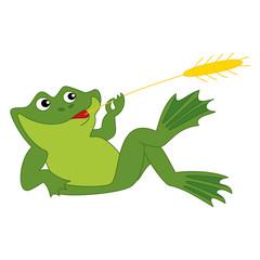 Vector Cute Cartoon Frog