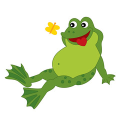 Vector Cute Cartoon Frog