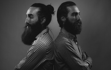 Bearded brothers - back to back