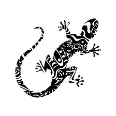 Lizard - black Ornamental Figure