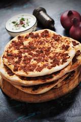 Lahmacun, turkish meat pizza