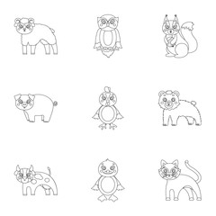 Nature, toys, farm, zoo and other web icon in outline style.Kangaroo, marsupial, Australia, icons in set collection.