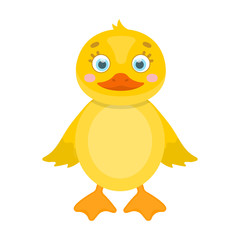 Duckling, single icon in cartoon style.Duckling, vector symbol stock illustration web.