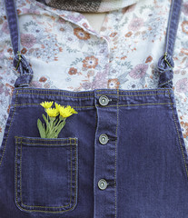 Flowers in the pocket