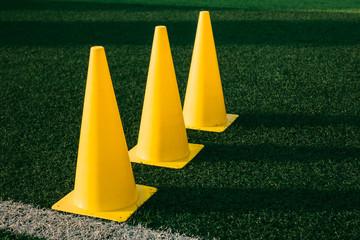 Cone on football field