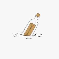 Vector of message bottle