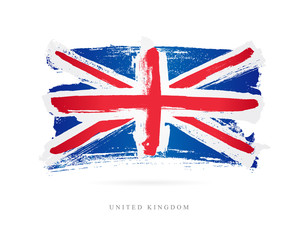 Flag of the Great Britain. United Kingdom