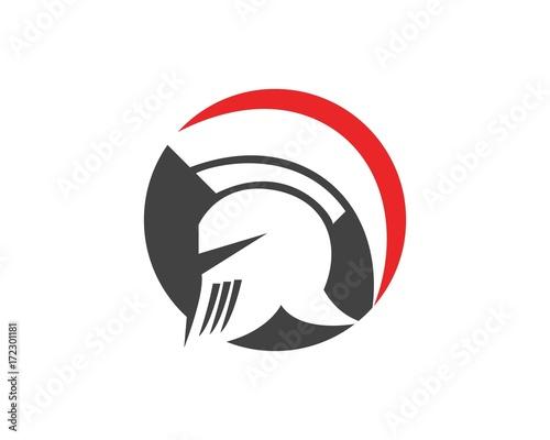 Gladiator spartan helmet logo design template stock image and gladiator spartan helmet logo design template pronofoot35fo Choice Image