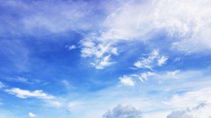 Bluesky background with smoky cloud
