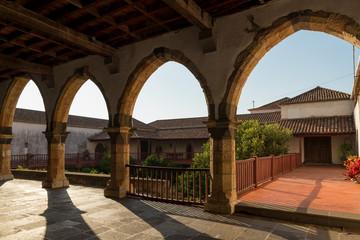 FUNCHAL, MADEIRA, PORTUGAL - SEPTEMBER 9, 2017: The Santa Clara Convent was built in the late 16th century, by order of the second captain-major of Madeira Island, João Gonçalves da Câmara
