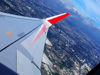 aeroplane view from window