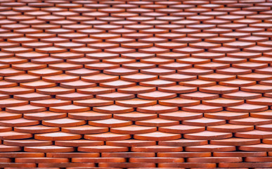 Orange Roof tiles texture surface
