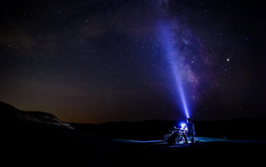 Milky Way in the Red Mountains of Xizi.Azerbaijan