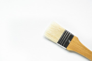 White blank canvas and paintbrush