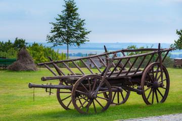 Rustic wooden wagon