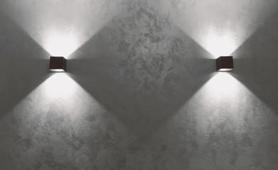 LED spotlight on the wall - Interiors (Pesaro, Italy)