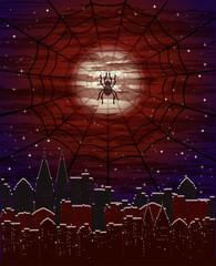 Happy halloween magic card, vector illustration