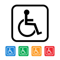 handicapped wheelchair icon