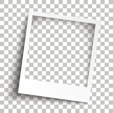Bevel Instant Photo Frame Transparent Shadows