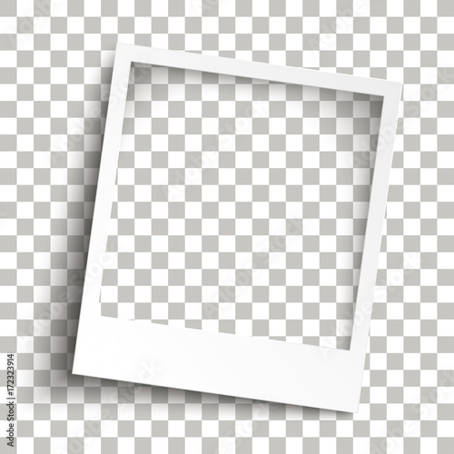 Wall mural Bevel Instant Photo Frame Transparent Shadows