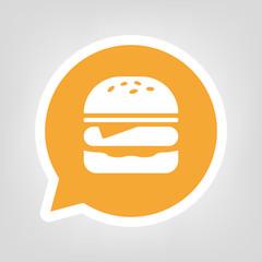 Gelbe Sprechblase - Burger