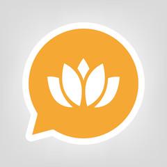 Gelbe Sprechblase - Lotusblüte