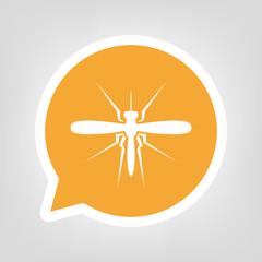 Gelbe Sprechblase - Stechmücke