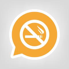 Gelbe Sprechblase - Rauchen-Verboten-Symbol