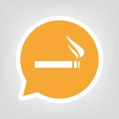 Gelbe Sprechblase - Zigarette