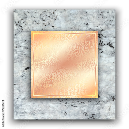 abstract marbling background in gray and rose gold colors for
