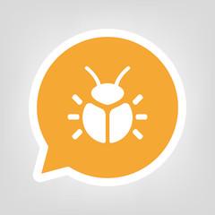 Gelbe Sprechblase - Käfer