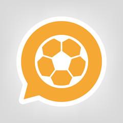 Gelbe Sprechblase - Fußball