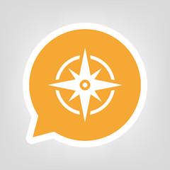 Gelbe Sprechblase - Kompass