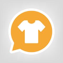 Gelbe Sprechblase - T-Shirt
