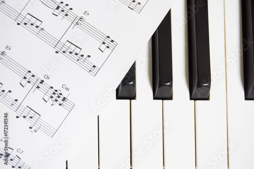 Piano Keys And Sheet Music Stock Photo And Royalty Free Images On