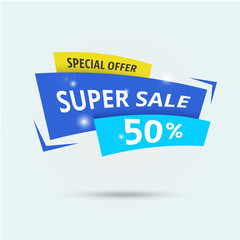 Abstract big sale template - modern vector illustration