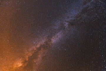 Colorful space shot showing the universe milky way galaxy with stars and space dust