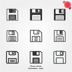 Diskette icons