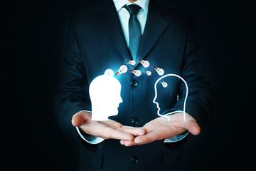 Idea concept. Knowledge transfer