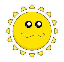 Cartoon Sun Face  cute - clip-art vector illustration
