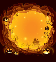 Halloween layered border for design