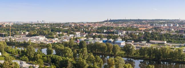 View of Praque city in Czech republic.