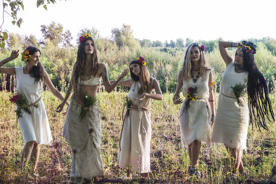 Gypsy Girls in the forest
