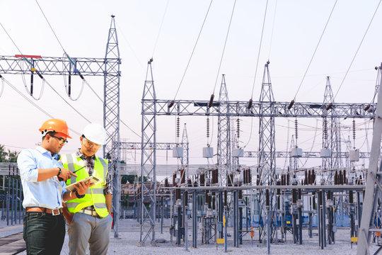 Engineers working in power plants.