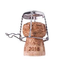2018 Silvester Neujahr Sekt Champagner Korken feiern