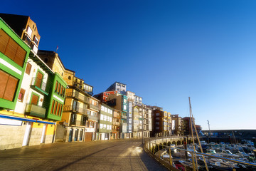 Wall Mural - Bermeo port and houses
