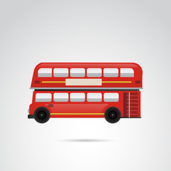 Red, london bus vector illustration.