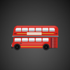 London red bus vector art.