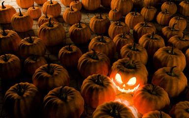 Jack O Lantern halloween pumpkin, 3d render