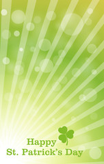 Bokeh Sunburst Patrick's Day Background